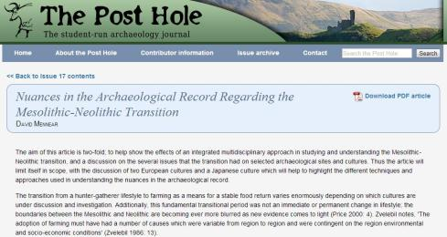 Post Hole Article