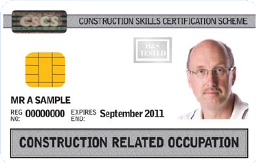 An example of the White CSCS card.