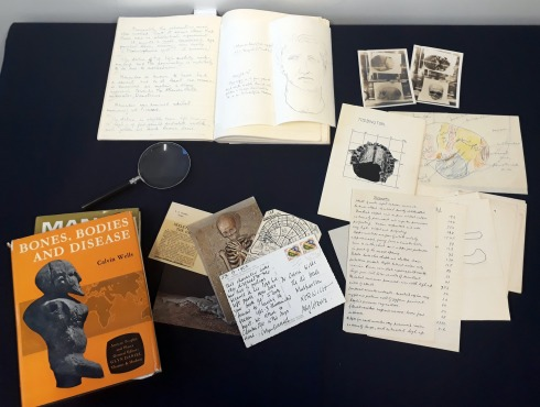 These bones of mine human osteology archaeology amongst other a collection shot of the archives that calvin wells left behind including postcards books skeletal reports and photographs image credit university of fandeluxe Gallery